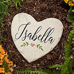 """""""Let Love Grow"""" Small Heart Garden Stone"""