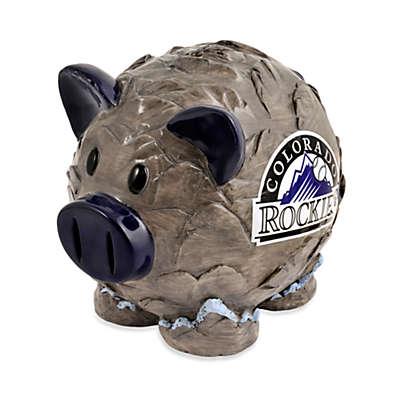 Colorado Rockies Resin Piggy Bank