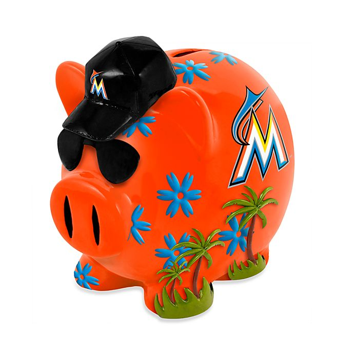 Alternate image 1 for MLB Miami Marlins Resin Piggy Bank