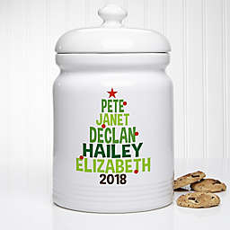 Christmas Family Tree Personalized Cookie Jar