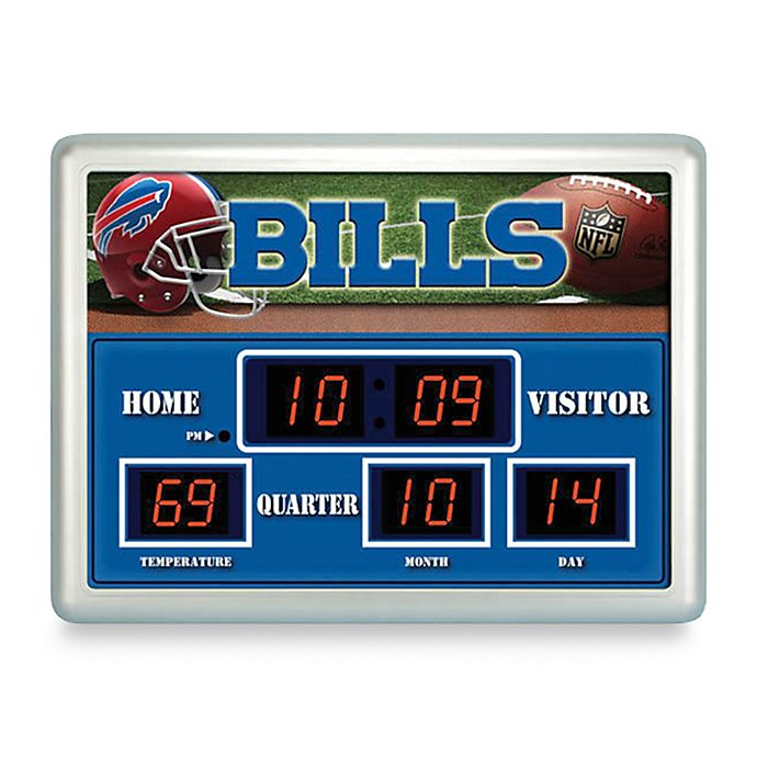f78a0d8fa3fdc NFL Buffalo Bills Indoor Outdoor Scoreboard Wall Clock