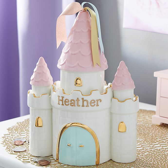 Alternate image 1 for Princess Castle Personalized Piggy Bank
