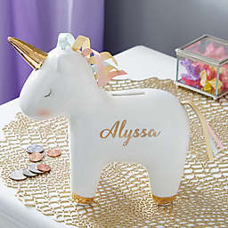 Unicorn Personalized Piggy Bank