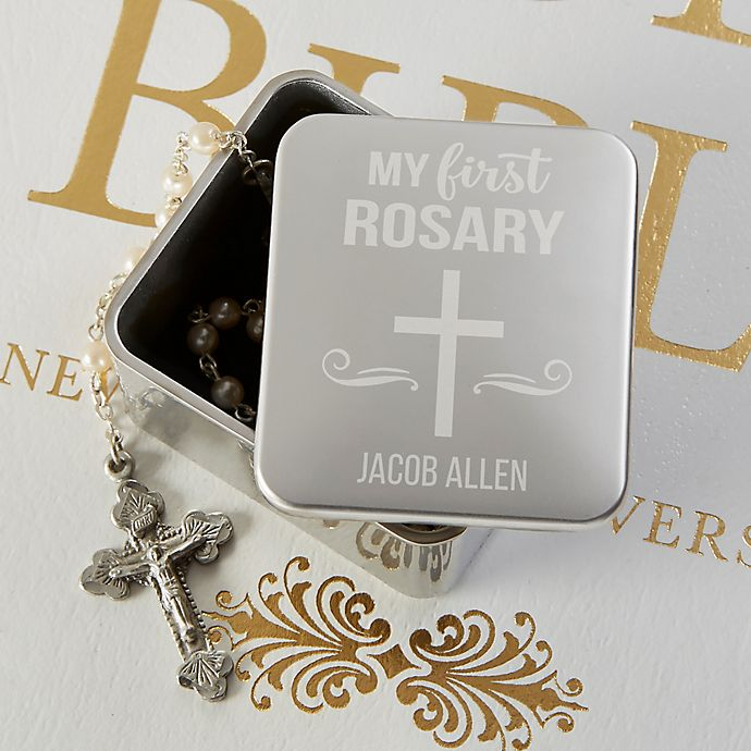 Alternate image 1 for My First Rosary Personalized Keepsake Box