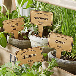 Herb Garden Personalized Wood Plant Marker Set