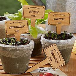 Vegetable Garden Personalized Wood Plant Marker Set