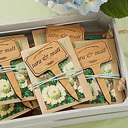 Wedding Favor Personalized Plant Marker Set