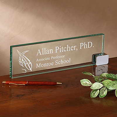 Academic Personalized Glass Nameplate