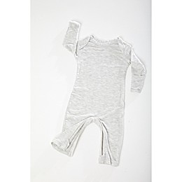 Gunamuna Zip-Up Pajama in Heather Grey
