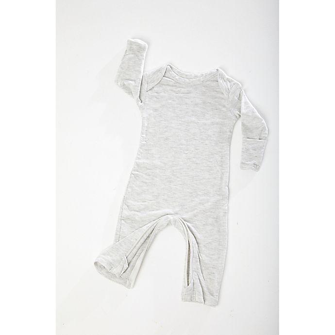 Alternate image 1 for Gunamuna Zip-Up Pajama in Heather Grey