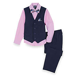 Nautica® 4-Piece Vest Set in Navy/Pink