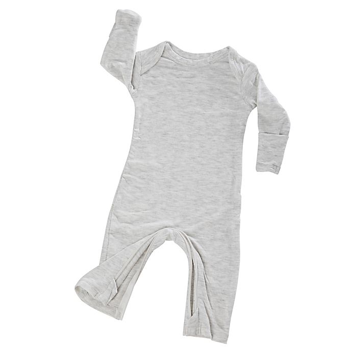 Alternate image 1 for Gunamuna Size 3-6M Zip-Up Pajama in Heather Grey