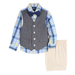 Nautica® 4-Piece Vest Set in Navy/Yellow