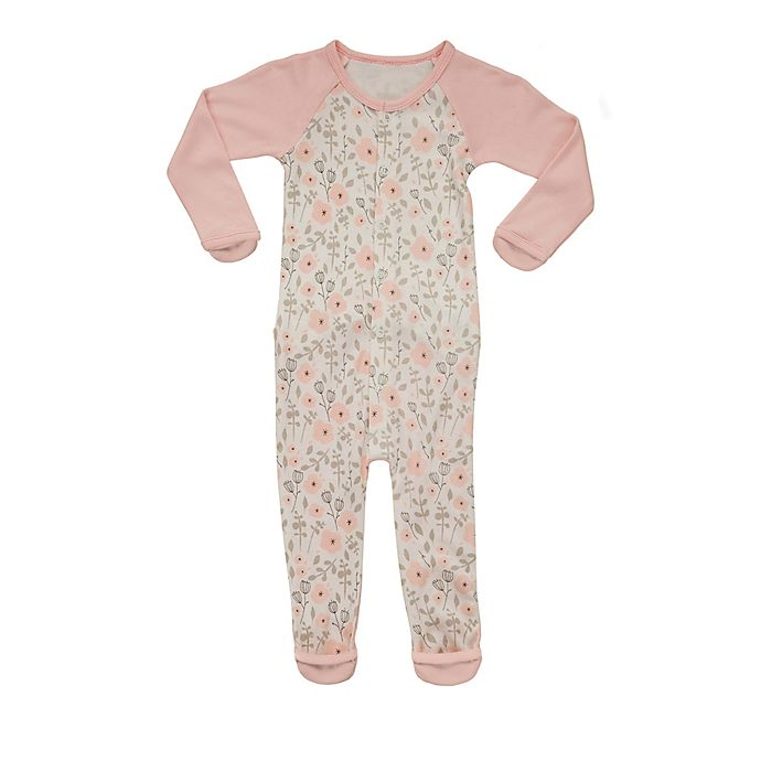 Alternate image 1 for goumikids Size 0-3M Enchanted Garden Footie in Pink