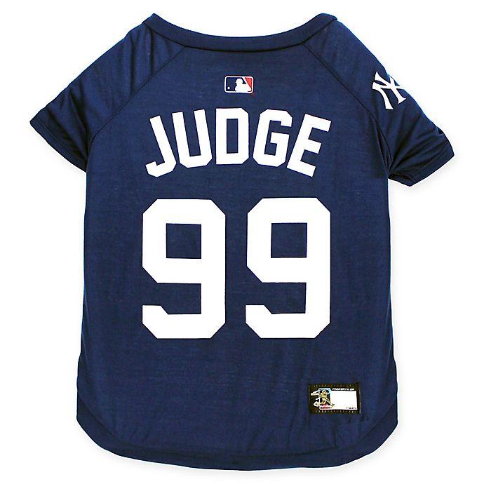 on sale 02658 618b7 MLB New York Yankees Aaron Judge Pet T-Shirt | Bed Bath & Beyond