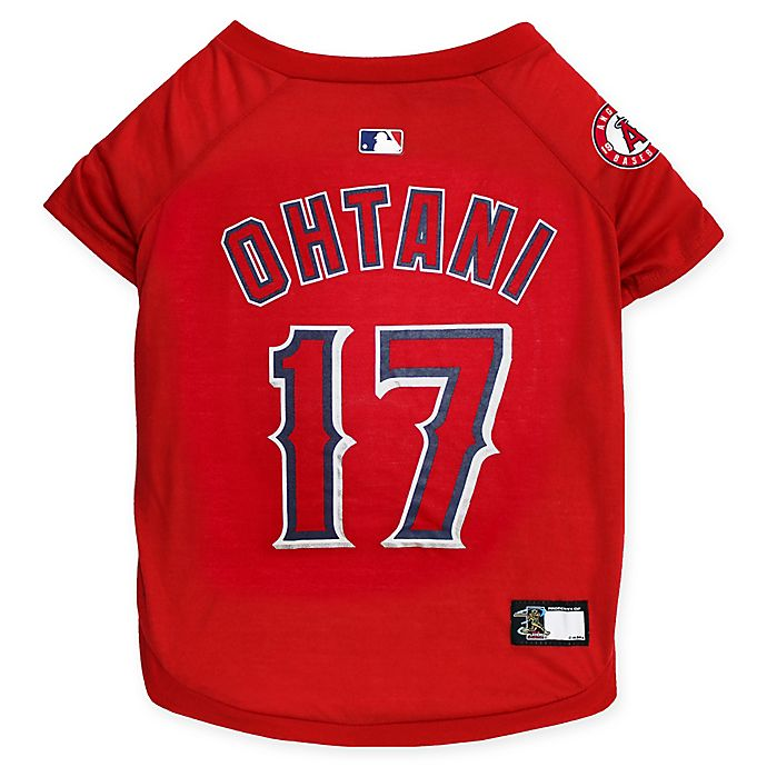 Alternate image 1 for MLB Los Angeles Angels Shohei Ohtani Medium Pet T-Shirt