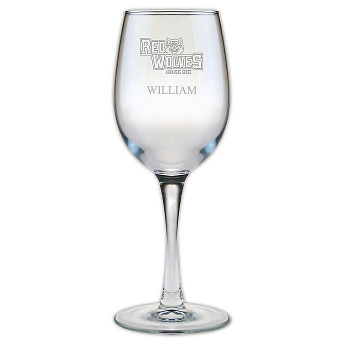 Alternate image 1 for Arkansas State University 12 oz. Etched Wine Glass