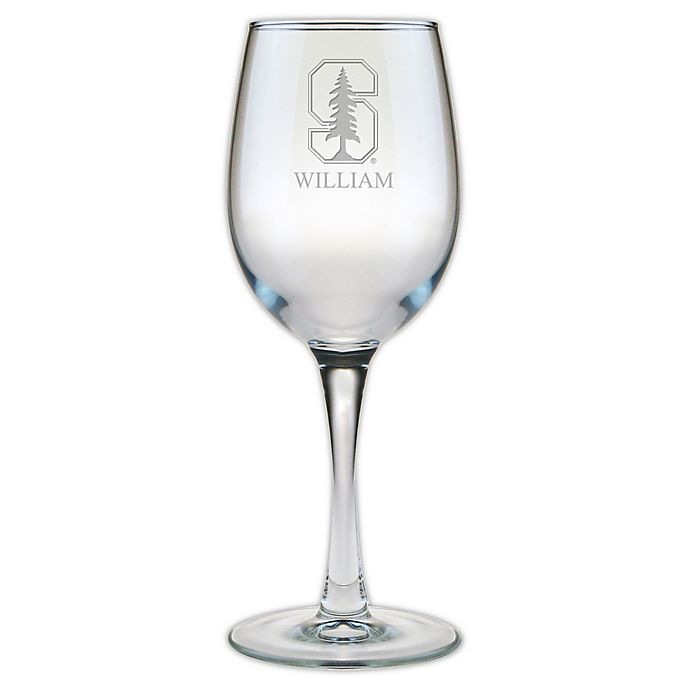 Alternate image 1 for Stanford University 12 oz. Etched Wine Glass