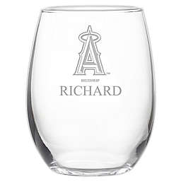 MLB Los Angeles Angels Stemless 21 oz. Etched Wine Glass
