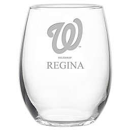 MLB Washington Nationals Stemless 21 oz. Etched Wine Glass