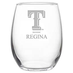 MLB Texas Rangers Stemless 21 oz. Etched Wine Glass