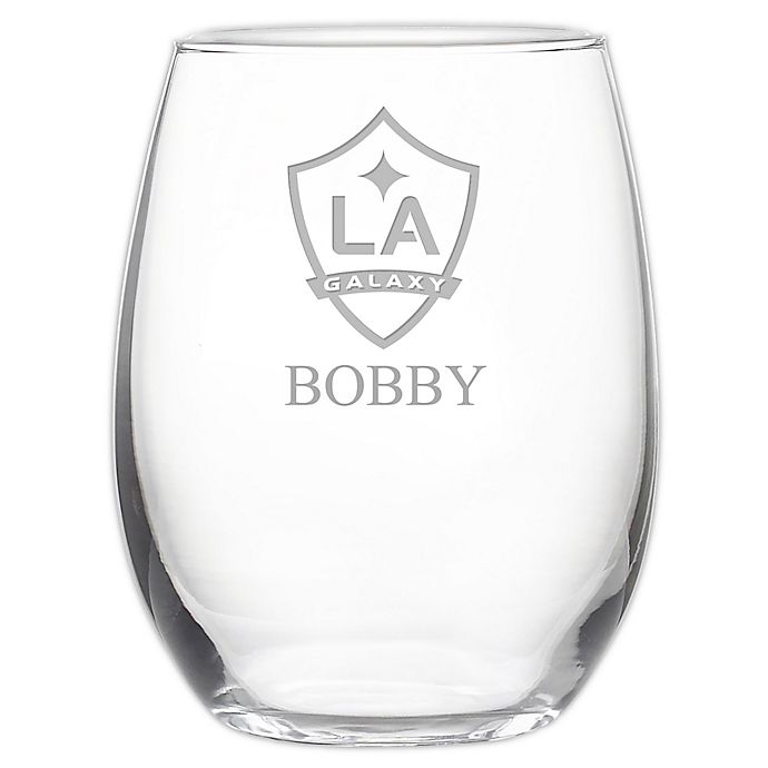 Alternate image 1 for MLS Los Angeles Galaxy 21 oz. Stemless Etched Wine Glass