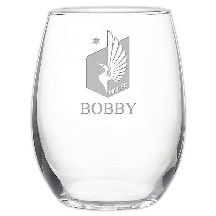 Alternate image 1 for MLS Minnesota United FC 21 oz. Stemless Etched Wine Glass