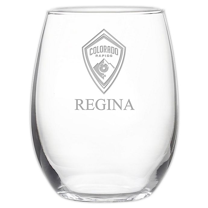 Alternate image 1 for MLS Colorado Rapids 21 oz. Stemless Etched Wine Glass