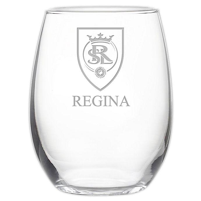 Alternate image 1 for MLS Real Salt Lake 21 oz. Stemless Etched Wine Glass