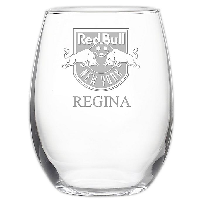 Alternate image 1 for MLS New York Red Bulls 21 oz. Stemless Etched Wine Glass