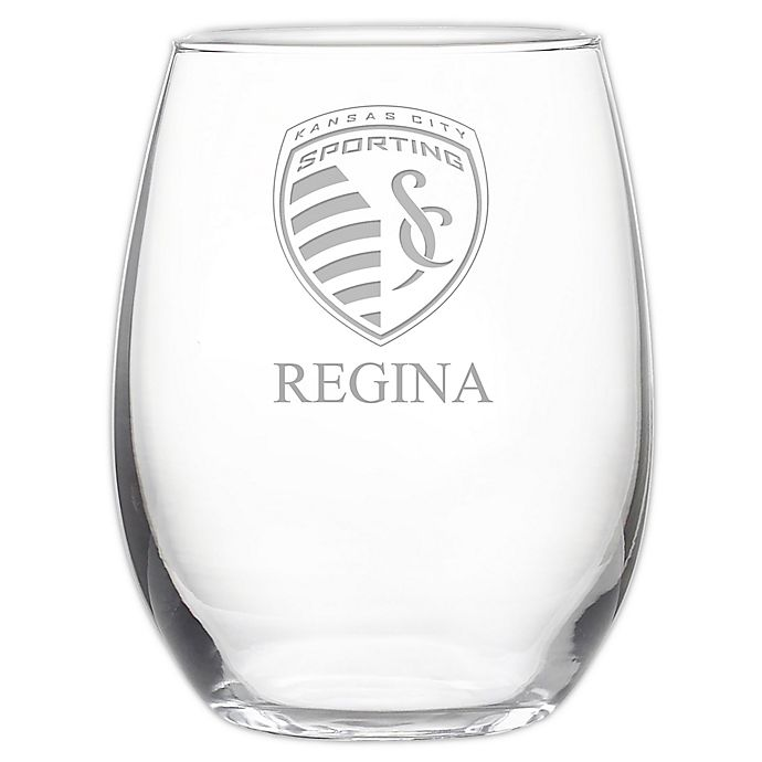 Alternate image 1 for MLS Sporting Kansas City 21 oz. Stemless Etched Wine Glass