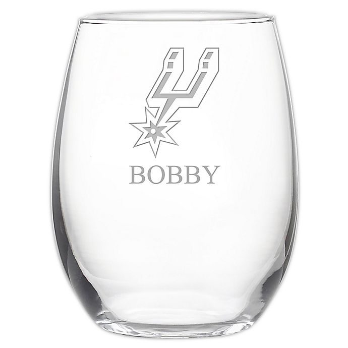 Alternate image 1 for NBA San Antonio Spurs Stemless 21 oz. Etched Wine Glass