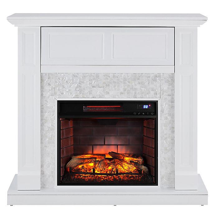 Alternate image 1 for Southern Enterprises Nobleman Media Infrared Fireplace Console in White