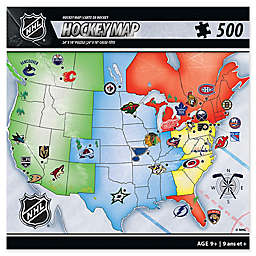 NHL 500-Piece Hockey Map Jigsaw Puzzle