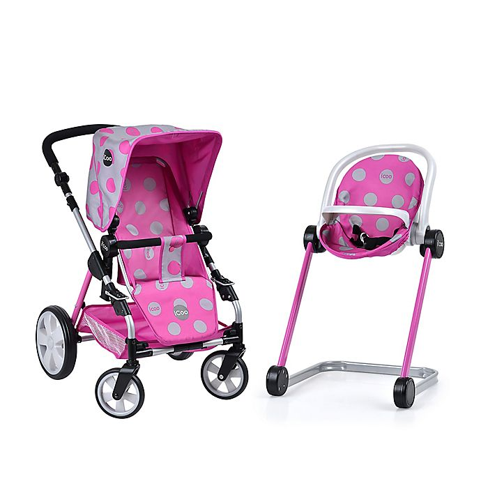 Icoo Grow With Me Doll Playset With Stroller Bassinet And High