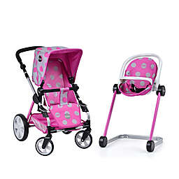 iCoo Grow with Me Doll Playset with Stroller/Bassinet and High Chair