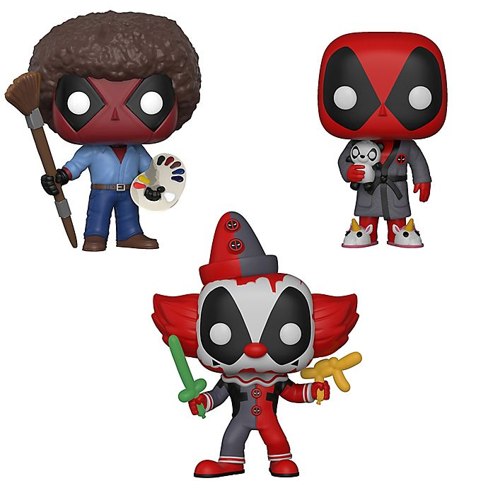 Alternate image 1 for Funko POP! 3-Pack Marvel® Deadpool Playtime Collectors Figurines