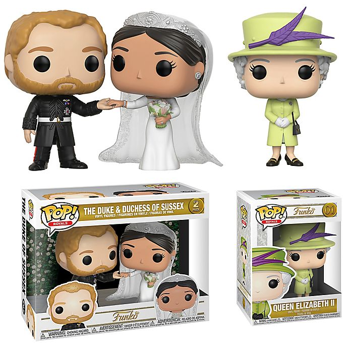 Alternate image 1 for Funko® POP! Royal Wedding: Harry and Meghan 3-Piece Collectible Figures Set