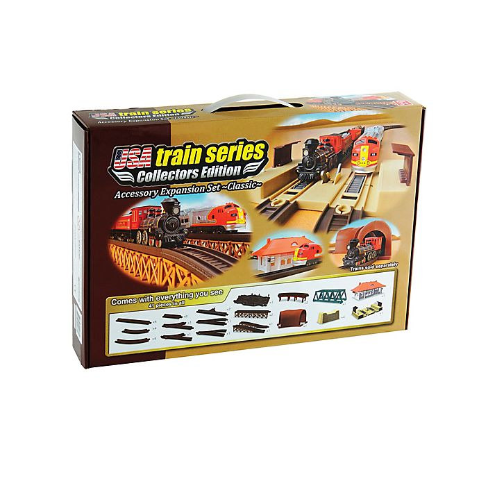 Alternate image 1 for LEC USA 41-Piece Classic Train Expansion Set