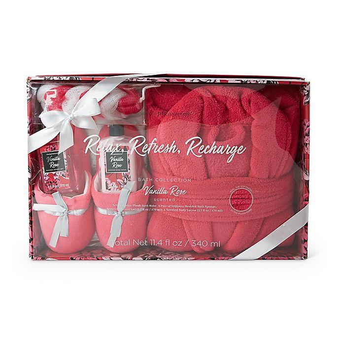 Alternate image 1 for Lila Grace® Robe & Slipper Mega Set in Vanilla Rose Pink