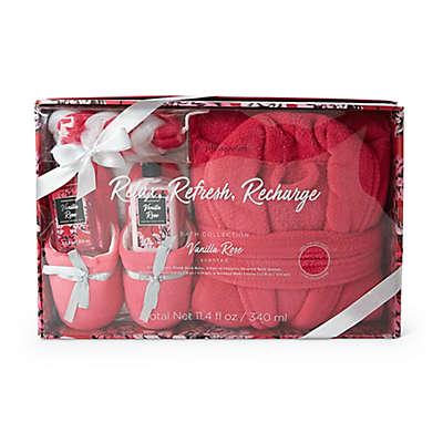 Lila Grace® Robe & Slipper Mega Set in Vanilla Rose