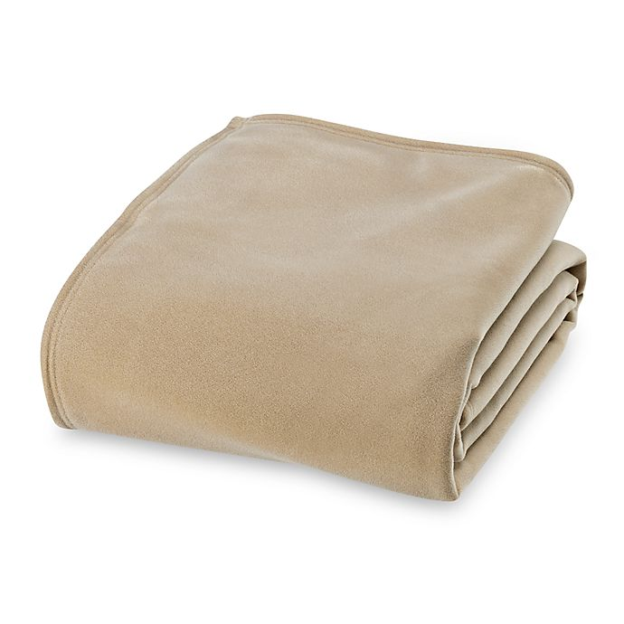 Alternate image 1 for Vellux Original Twin Blanket in Tan