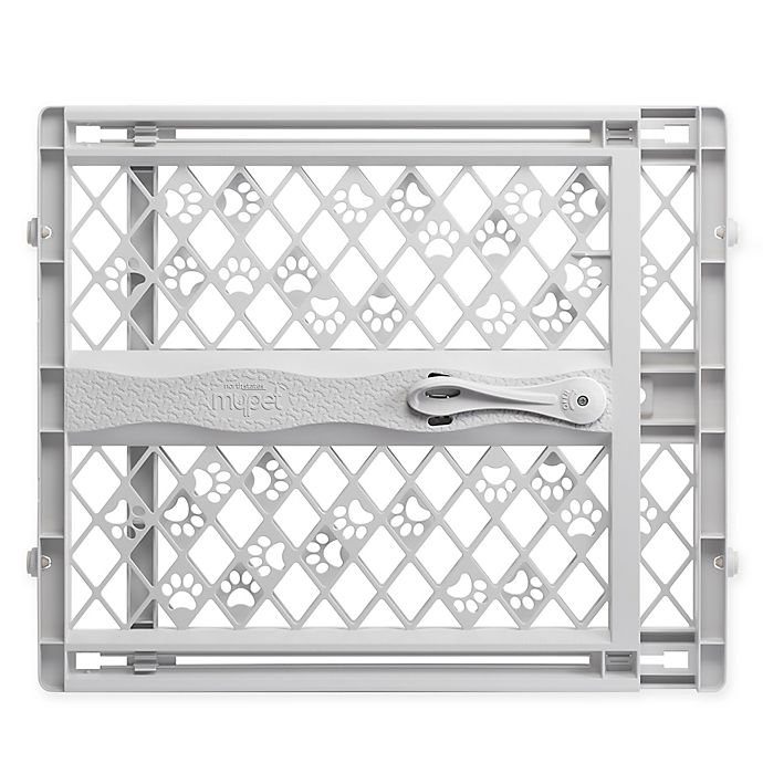 Alternate image 1 for MyPet Tension-Mount Portable Pet Gate in Grey