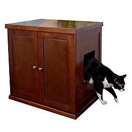 Large Wooden Cat Litter Cabinet
