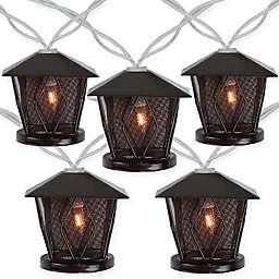 Sienna Lantern Patio Lights in Brown (Set of 10)