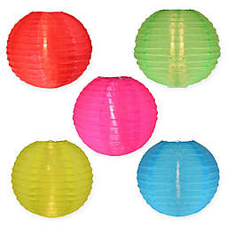 Sienna Paper Lantern Multicolor String Light Set