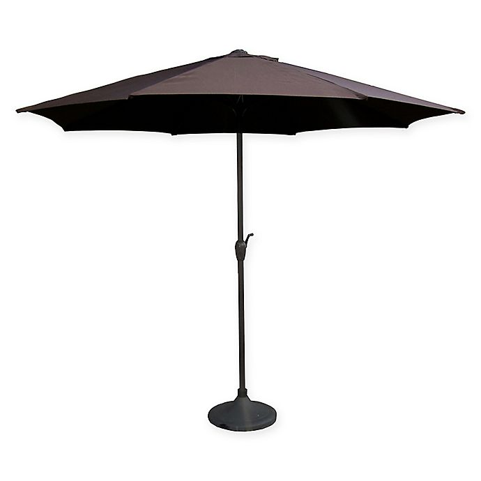 Alternate image 1 for LB International 9-Foot Market  Umbrella in Brown