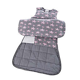 Gunamuna Gunapod® Newborn 5-Way Adjustable w/WONDERZiP in Grey/Pink Stars