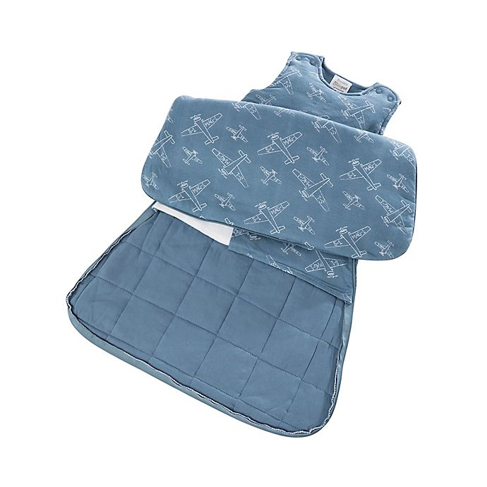 Alternate image 1 for Gunamuna Gunapod® Newborn 5-Way Adjustable w/WONDERZiP in Blue Airplanes