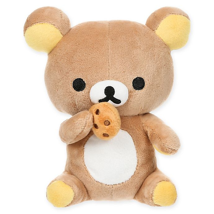 Alternate image 1 for Rilakkuma™ Bear Eating a Cookie Plush Toy in Brown